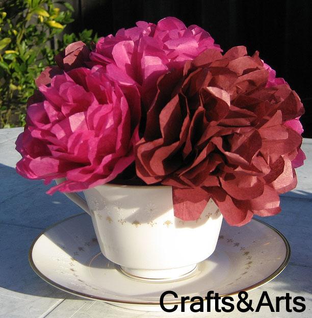 Crafts rose tissue paper flower rose tissue paper flower craft mightylinksfo Images