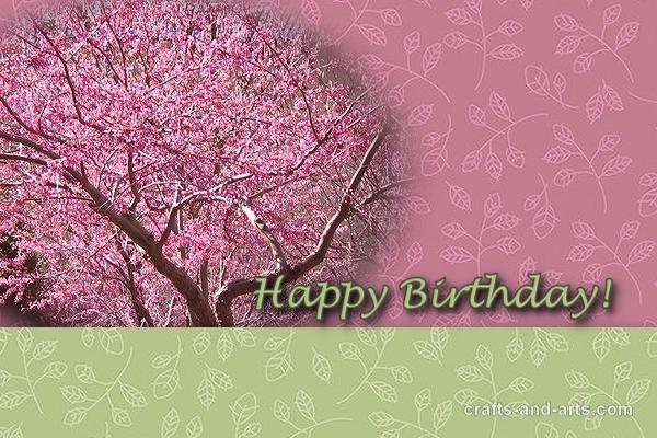 Crafts Cherry Blossom Birthday – High Quality Birthday Cards