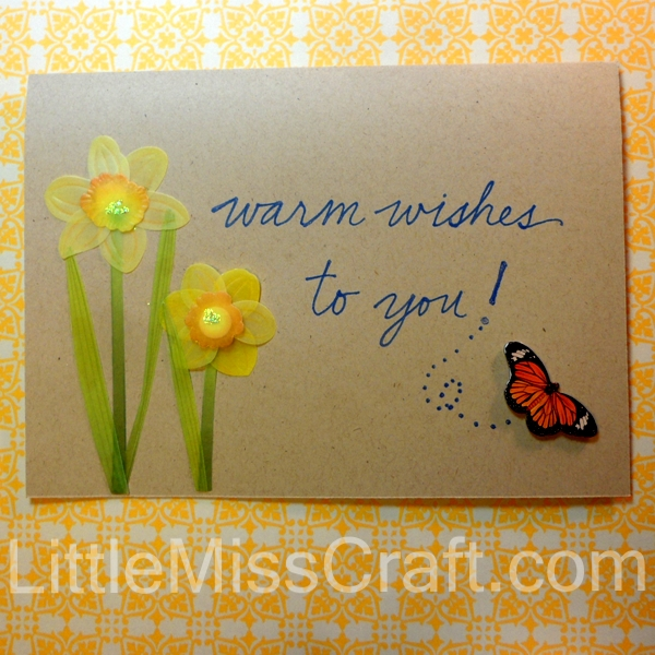 handmade flower butterfly greeting card craft tutorial