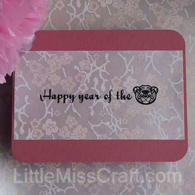 cherry blossom new year wedding greeting card vellum cardstock elegant craft tutorial