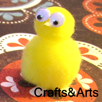 Chick pom-pom craft