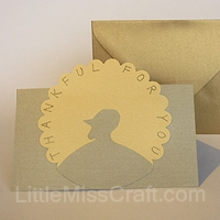 elegant thanksgiving turkey card card making