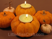Pumpkin Tealight Candle Craft