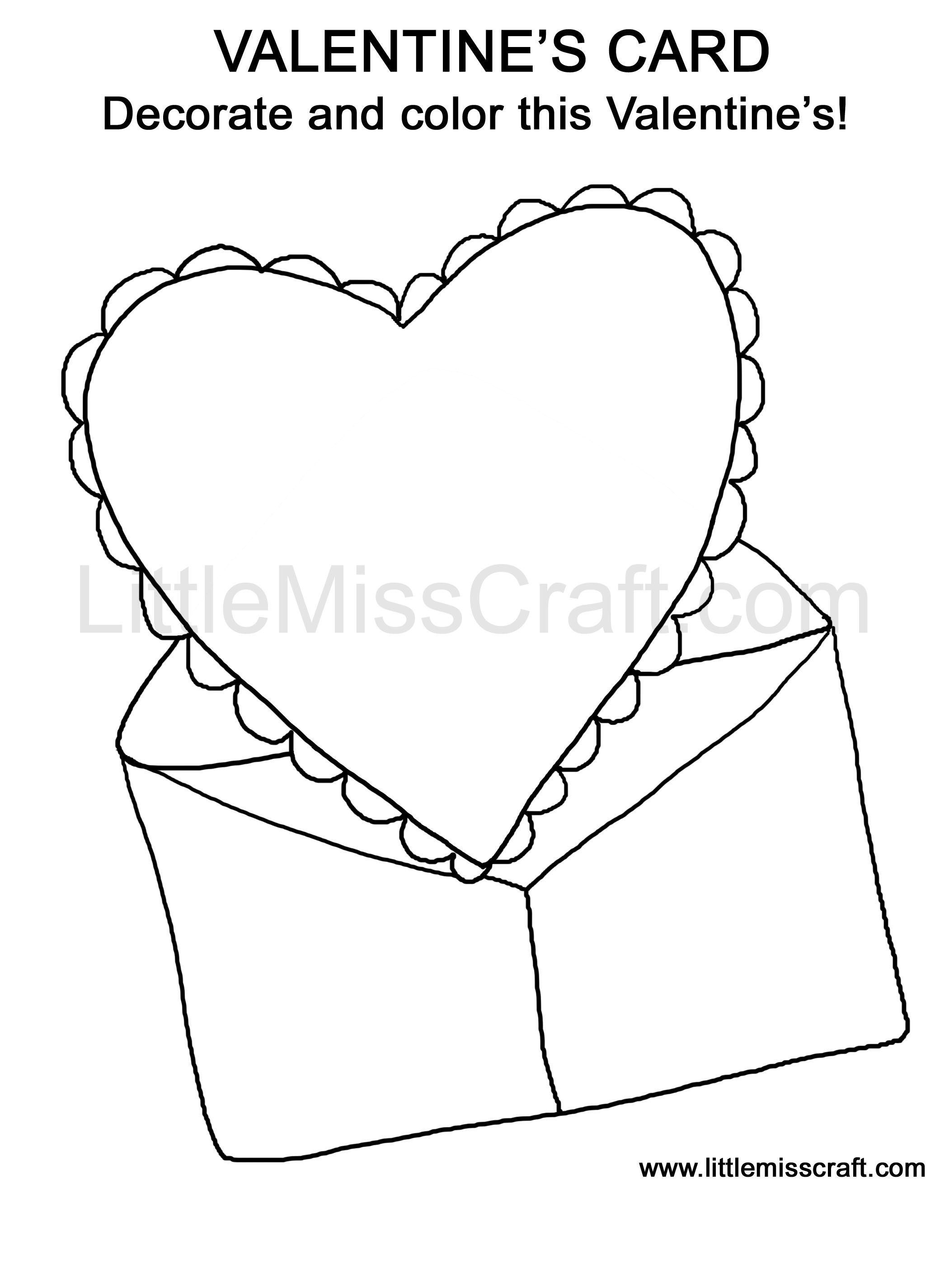 valentins day crafts an coloring pages - photo #27