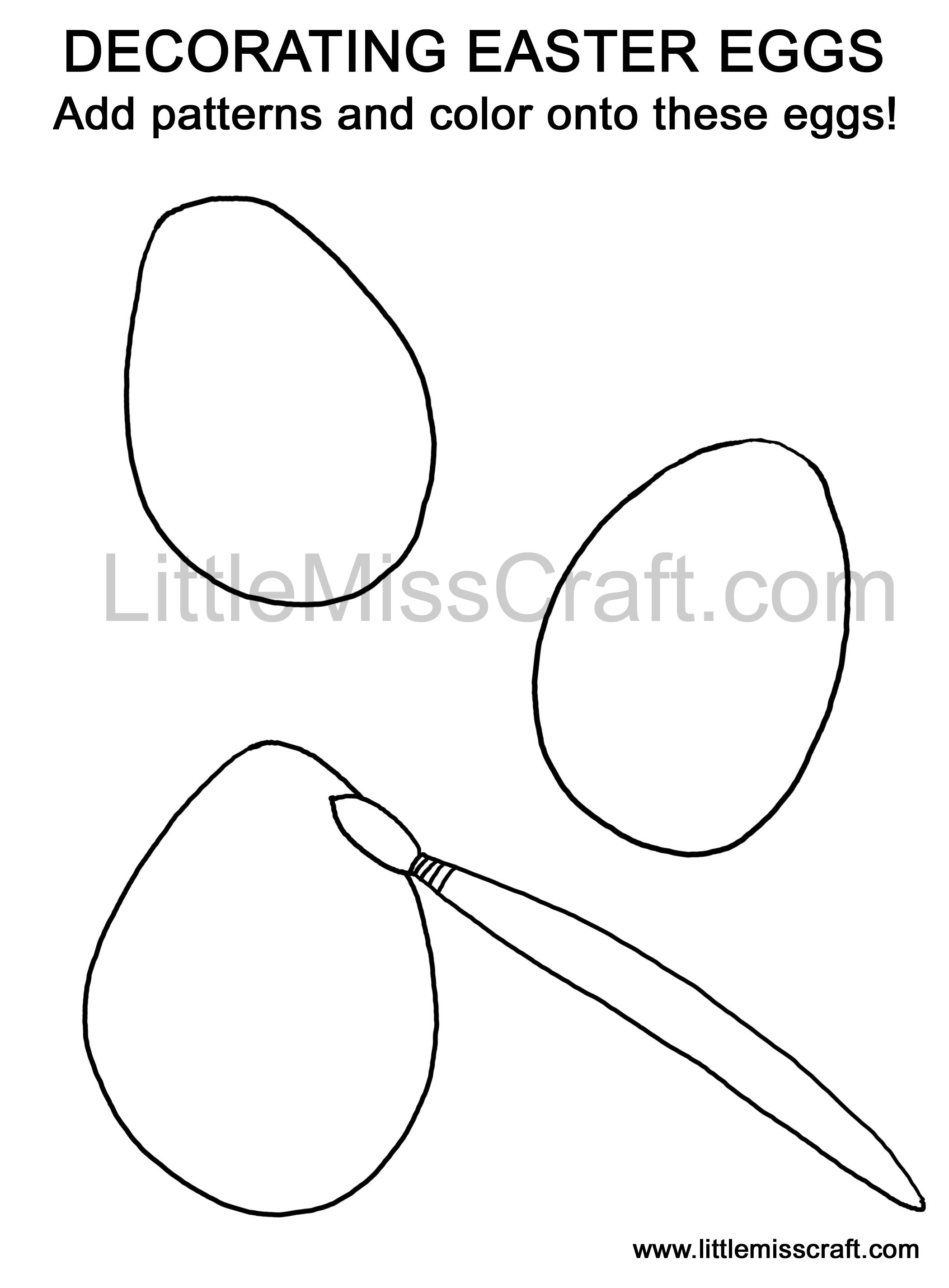 Easter eggs chicks easter egg hunt draw coloring doodle printable pages