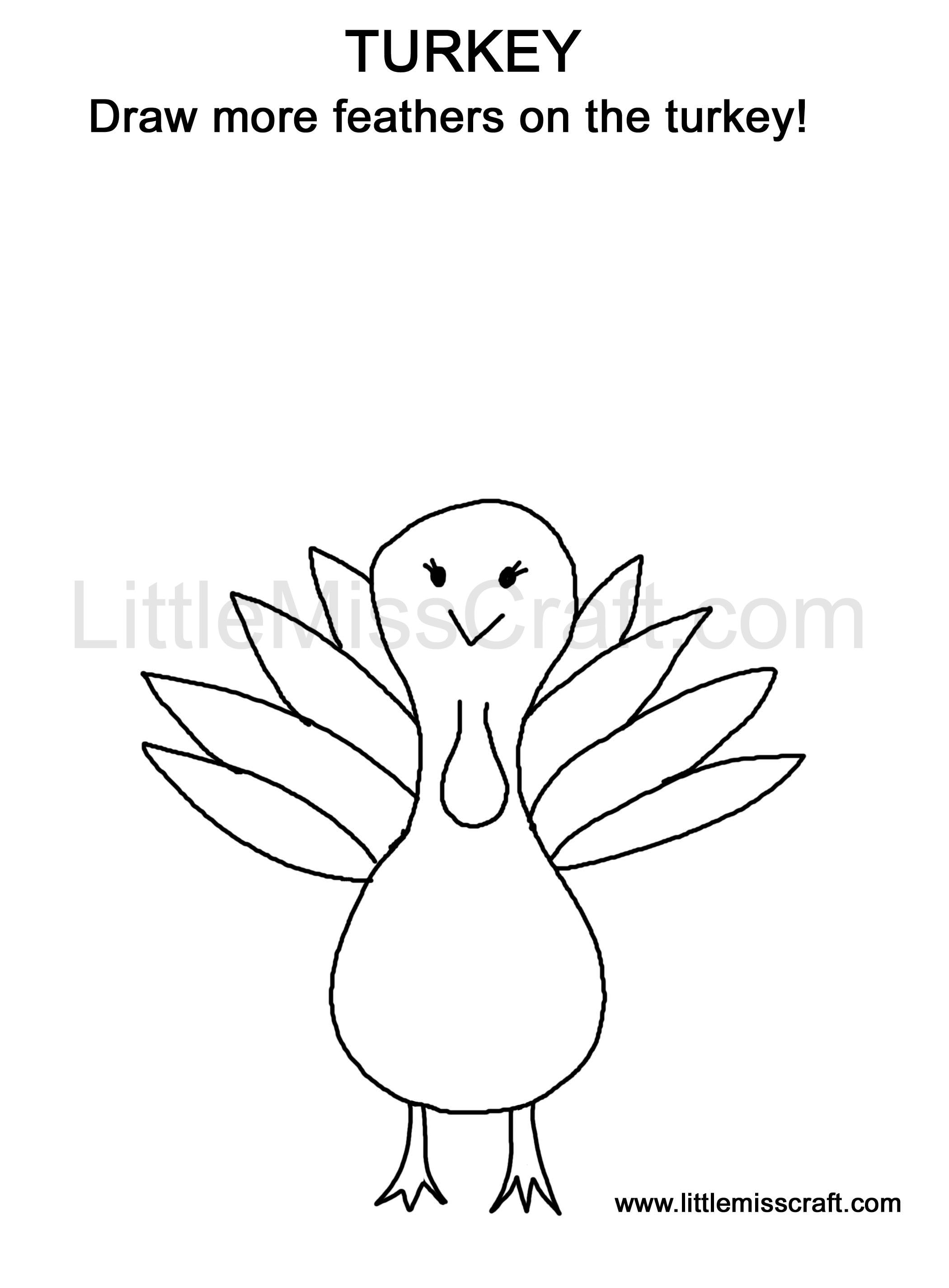 crafts thanksgiving turkey doodle coloring page