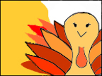 Thanksgiving Turkey Doodle Coloring Page