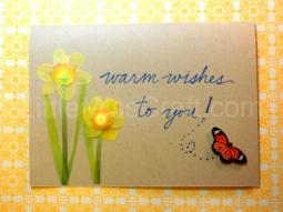 Butterfly Daffodil Card