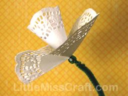 Daffodil Doily Flowers Craft