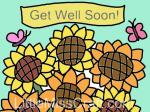 Sunflower Get Well Coloring Page