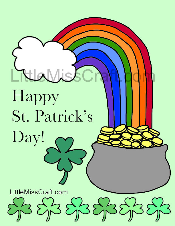 Crafts st patrick 39 s day rainbow coloring page for St patrick s day rainbow coloring pages