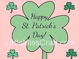 St. Patrick's Day Shamrock Coloring Page