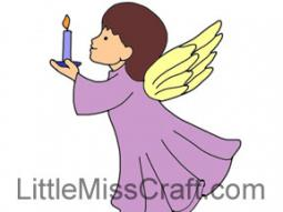 Angel Candle Coloring Page