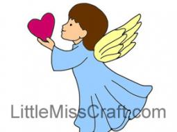 Angel Heart Coloring Page
