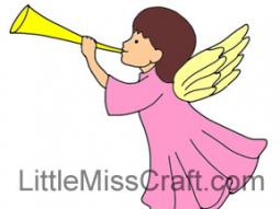 Angel Trumpet Coloring Page