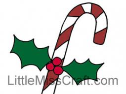 Candy Cane Christmas Coloring Page