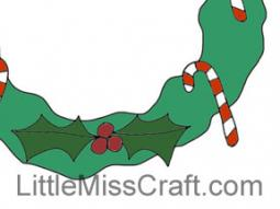 Candy Cane Wreath Coloring Page