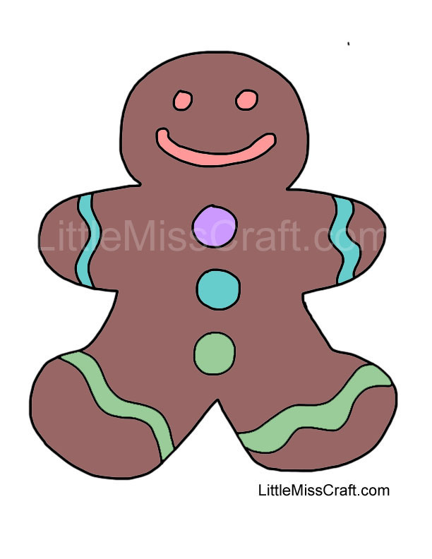 Crafts Gingerbread Man 1 Coloring Page