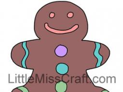 Gingerbread Man 1 Coloring Page