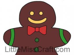 Gingerbread Man 2 Coloring Page