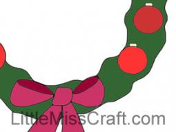 Christmas Ornament Wreath Coloring Page
