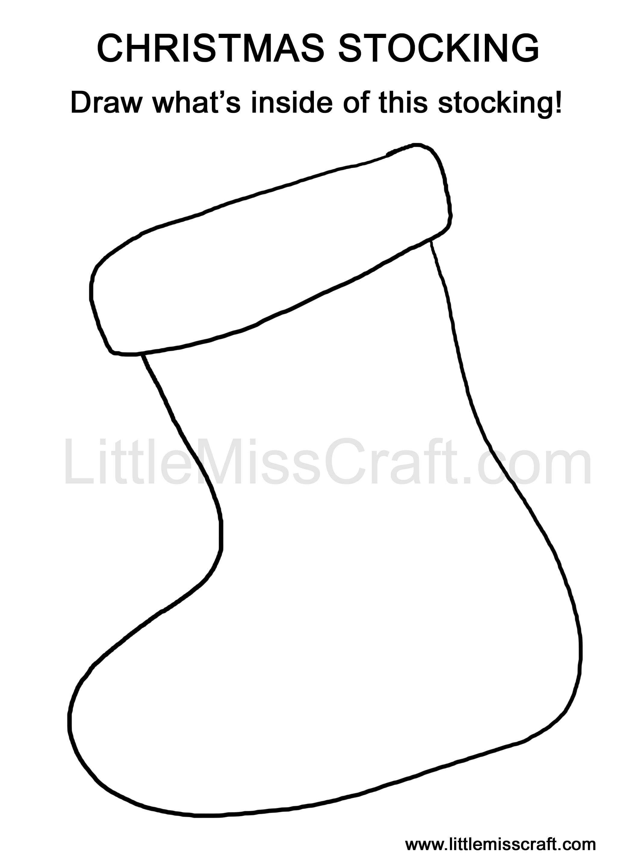 Clip Art Christmas Stocking Coloring Pages Pattern crafts christmas stocking doodle coloring page page