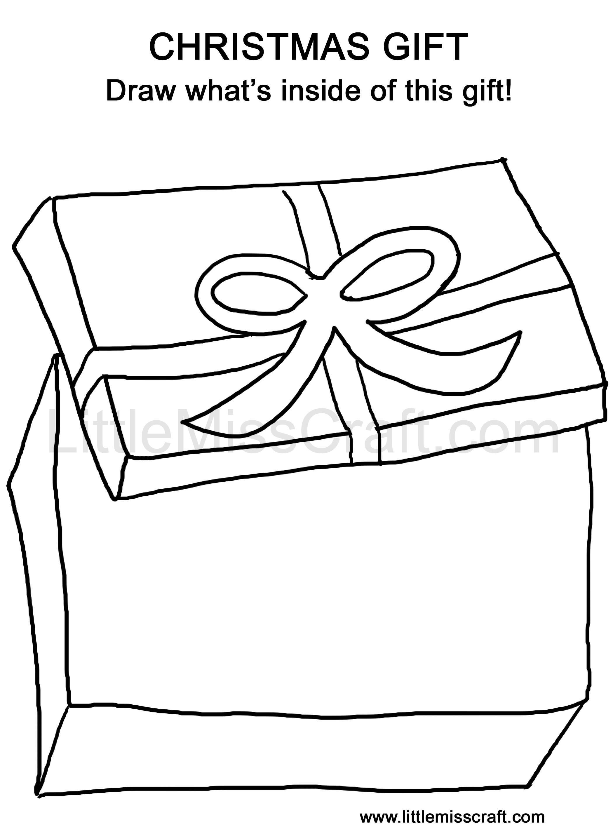 Christmas Gift Doodle Coloring Page