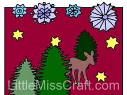 Snowflake Winter Wonderland Coloring Page