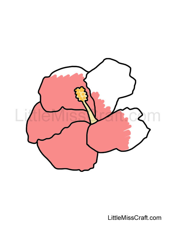 Crafts - Hibiscus Coloring Page