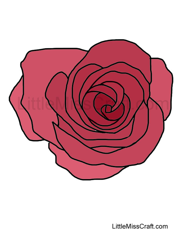 Crafts Rose Coloring Page 2