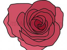 Rose Coloring Page 2