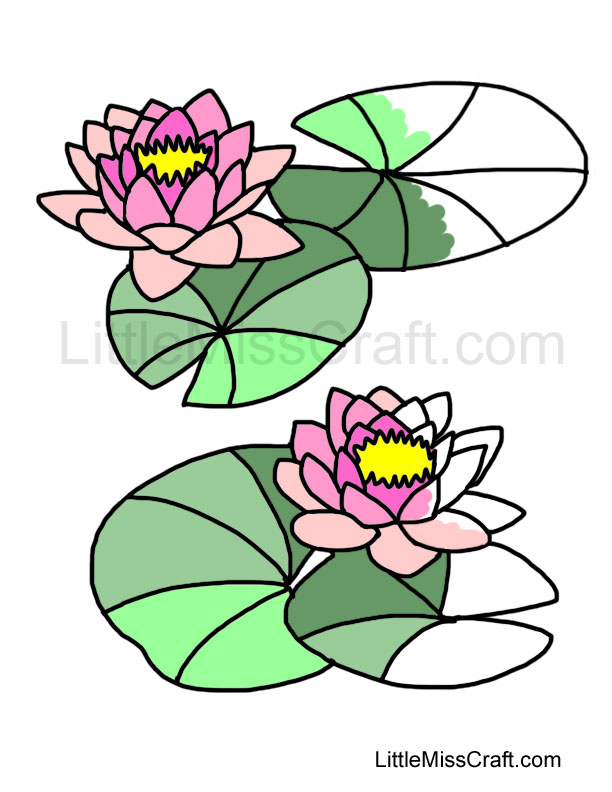 water lilies coloring page - Lily Coloring Pages