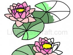 Water Lilies Coloring Page
