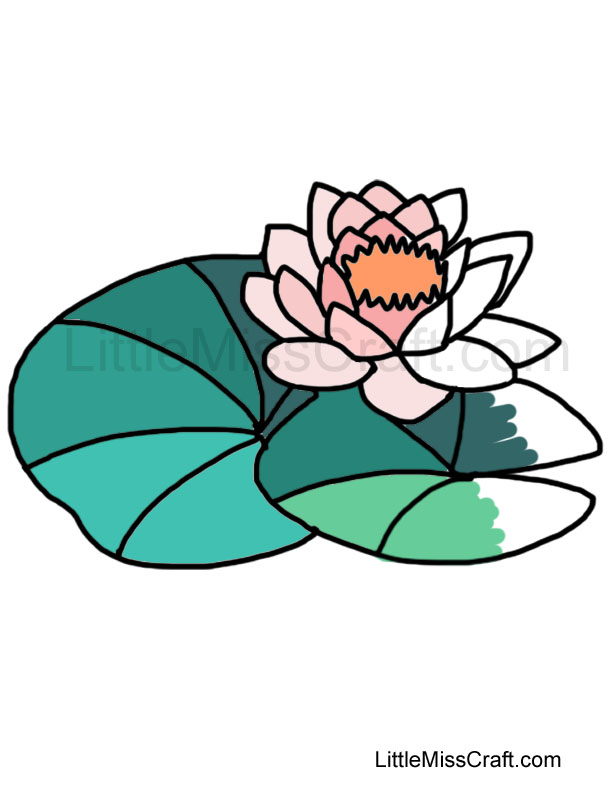 free coloring pages of water lily