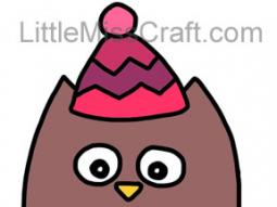 Owl With Winter Hat Coloring Page