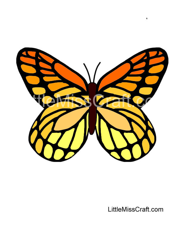 Crafts Monarch Butterfly Coloring Page