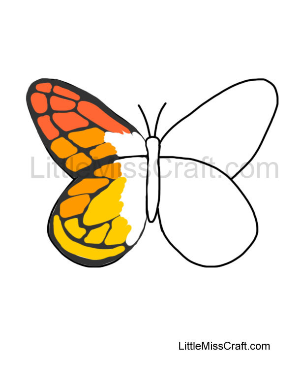 Crafts Monarch Butterfly Outline Coloring Page