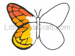 Monarch Butterfly Outline Coloring Page