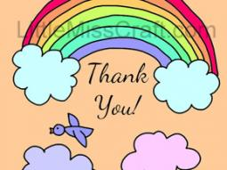 Thank You Rainbow Coloring Page