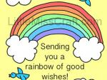 Get Well Rainbow Coloring Page