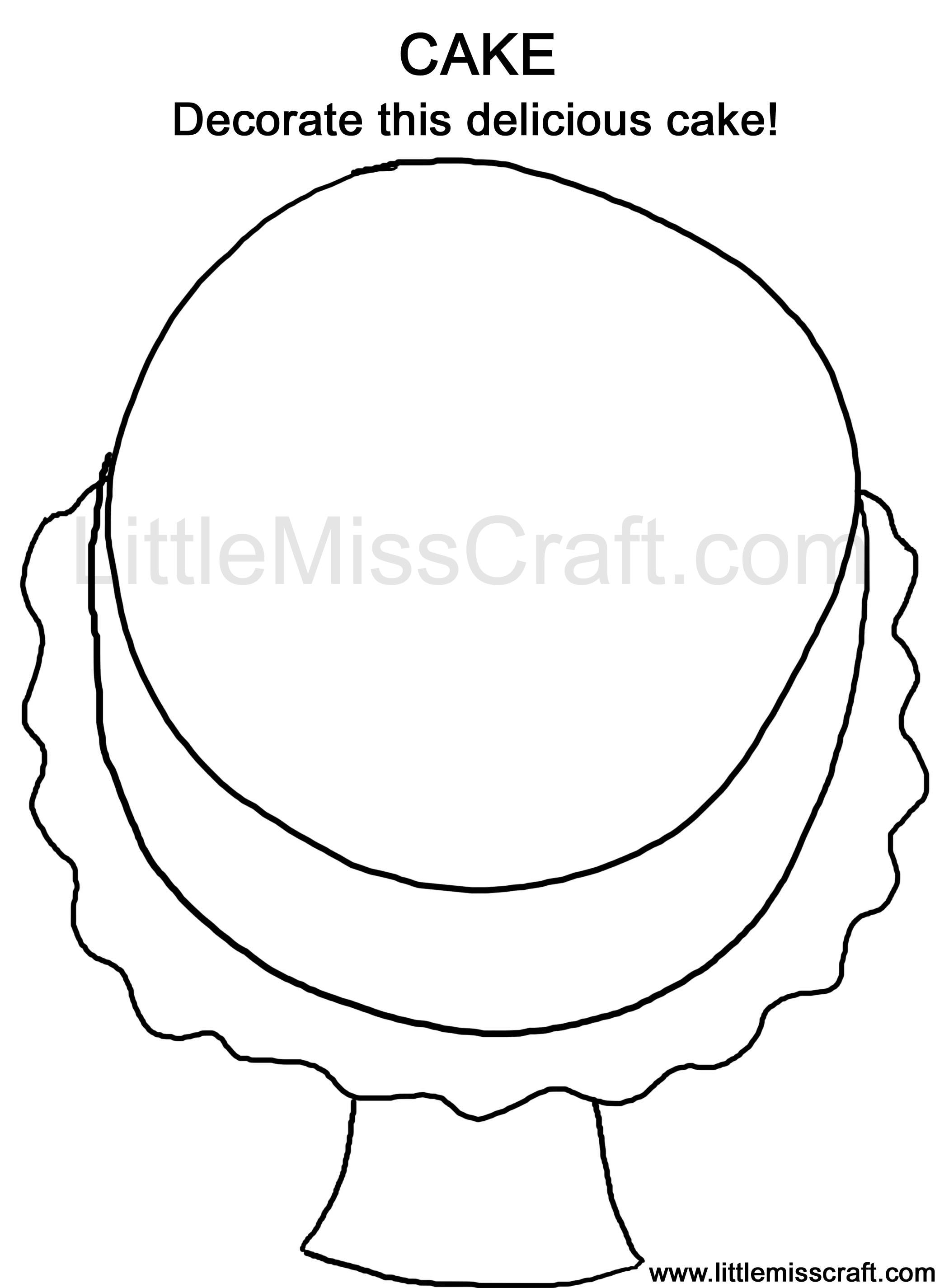 Coloring pages cake