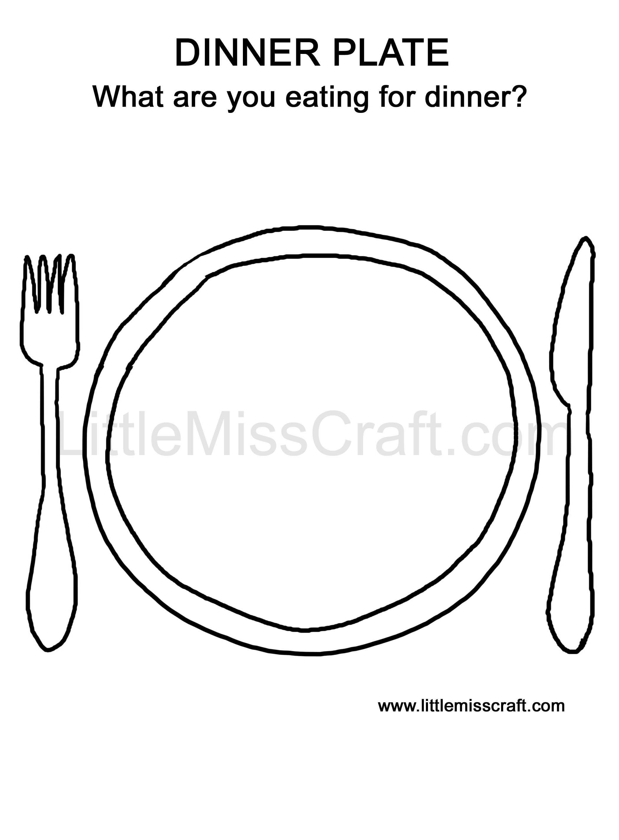 Dinner Plate Doodle Coloring Page