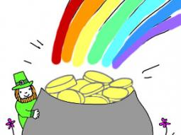 St. Patrick's Day Rainbow Treasure Coloring Page