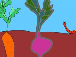 Growing Root Vegetables Doodle Coloring Page