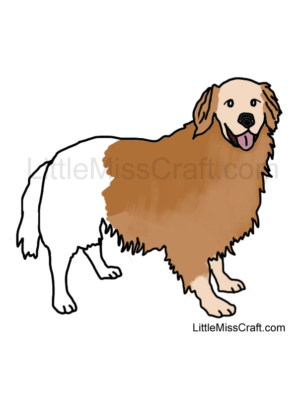 Crafts Golden Retriever Dog Coloring Page