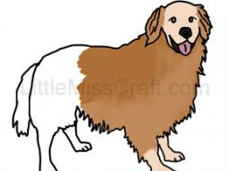 Golden Retriever Dog Coloring Page