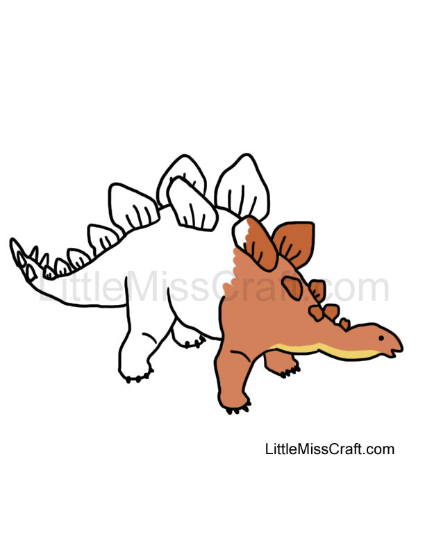 Crafts Stegosaurus Coloring Page