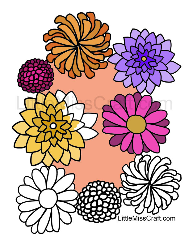 fall flowers coloring pages - photo#9