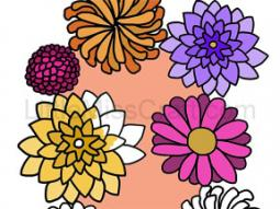 Fall Flowers Coloring Page