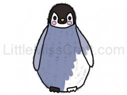 Penguin Baby Coloring Page